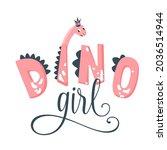 dino girl vector illustration.... | Shutterstock .eps vector #2036514944