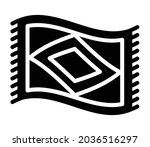 magic carpet or flying carpet... | Shutterstock .eps vector #2036516297