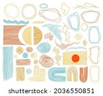 scribble frames  lines and dots ...   Shutterstock .eps vector #2036550851