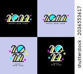 creative concept of 2022 happy...   Shutterstock .eps vector #2036553617