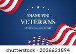 veterans day  november 11 ... | Shutterstock .eps vector #2036621894