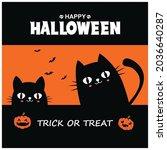 vintage halloween poster design ... | Shutterstock .eps vector #2036640287