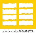 torn ripper paper sheet... | Shutterstock .eps vector #2036673071