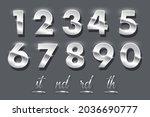 silver number metal set vector... | Shutterstock .eps vector #2036690777