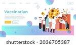 scientists and doctors working... | Shutterstock .eps vector #2036705387