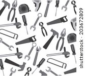 tools design over white... | Shutterstock .eps vector #203672809