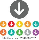 button icon of download sign  ...