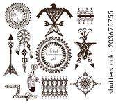tribal native american indian... | Shutterstock . vector #203675755