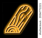 half wooden trunk neon light... | Shutterstock .eps vector #2036772221