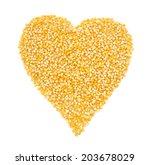 Heart Made Of Corn Grains