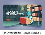 smart business cartoon landing...   Shutterstock .eps vector #2036780657