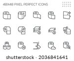 set of vector line icons... | Shutterstock .eps vector #2036841641