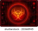 biohazard sign   vector | Shutterstock .eps vector #20368945