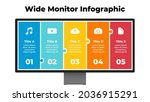 monitor mock up. infographic...