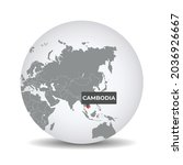 world globe map with the... | Shutterstock .eps vector #2036926667