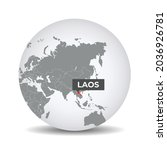 world globe map with the... | Shutterstock .eps vector #2036926781