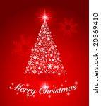 vector christmas tree. editable | Shutterstock .eps vector #20369410