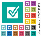 checked box solid multi colored ... | Shutterstock .eps vector #2036942471