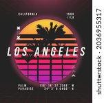 los angeles  california t shirt ... | Shutterstock .eps vector #2036955317