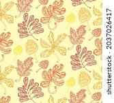 seamless pattern with colorful... | Shutterstock .eps vector #2037026417