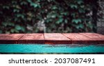 background with a wooden table... | Shutterstock . vector #2037087491