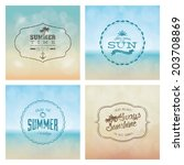 abstract summer labels on a... | Shutterstock .eps vector #203708869