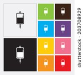 iv bag icon   vector | Shutterstock .eps vector #203708929