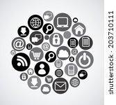 technology design over white...   Shutterstock .eps vector #203710111