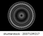 mandala sacred geometry symbol... | Shutterstock .eps vector #2037139217