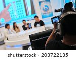 bangkok   sep 23  unidentified... | Shutterstock . vector #203722135
