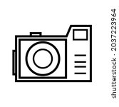 vector image of a camera with...