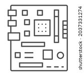motherboard square shape layout ...   Shutterstock .eps vector #2037331274