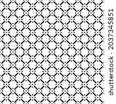 simple black and white seamless ... | Shutterstock .eps vector #2037345851