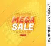 mega sale banner template for... | Shutterstock .eps vector #2037368207