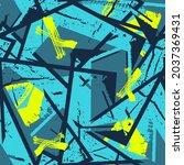 abstract seamless blue grunge...   Shutterstock .eps vector #2037369431