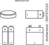battery icon isolated on white...