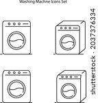 washing machine icon isolated...