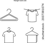 clothes hanger icon isolated on ...