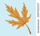 simplicity maple leaf freehand... | Shutterstock .eps vector #2037422147