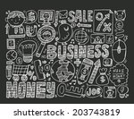 doodle business background | Shutterstock .eps vector #203743819