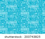 doodle business seamless  | Shutterstock .eps vector #203743825