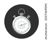 stopwatch simple icon  isolated ...   Shutterstock .eps vector #2037469094