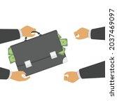businessman giving bag of...   Shutterstock .eps vector #2037469097