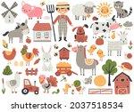 Farm Animals Set With Horse ...