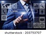 business  technology  internet...   Shutterstock . vector #203753707