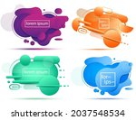 set of liquid color abstract... | Shutterstock .eps vector #2037548534