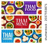thai cuisine food dishes and... | Shutterstock .eps vector #2037553871