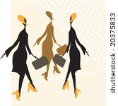 abstract woman with bag vector... | Shutterstock .eps vector #20375833