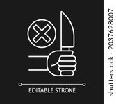 no sharp objects white linear...   Shutterstock .eps vector #2037628007