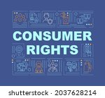 consumer rights word concepts...